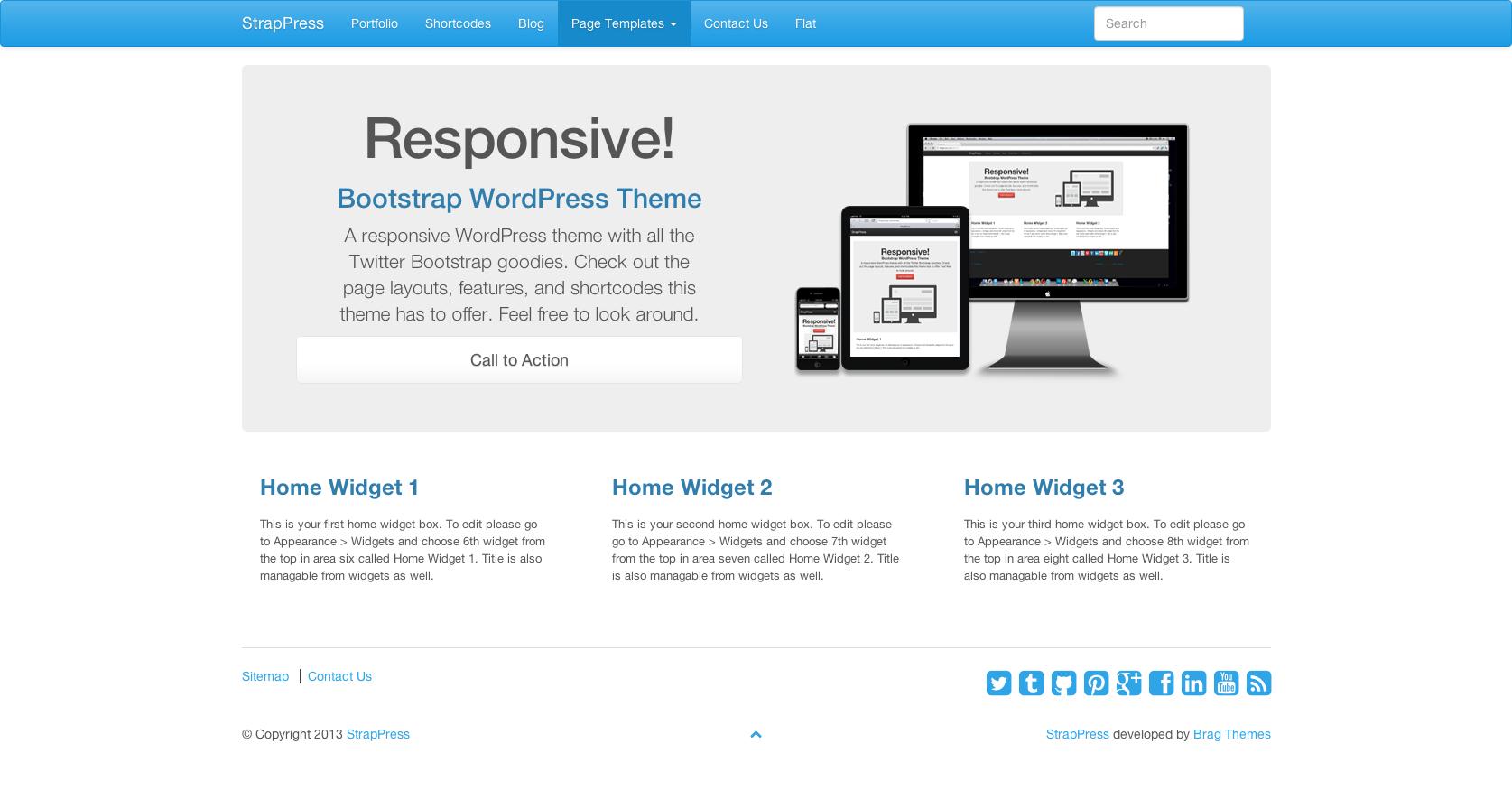 Generous Wordpress Bootstrap 3 Theme Gallery - Wordpress Themes ...