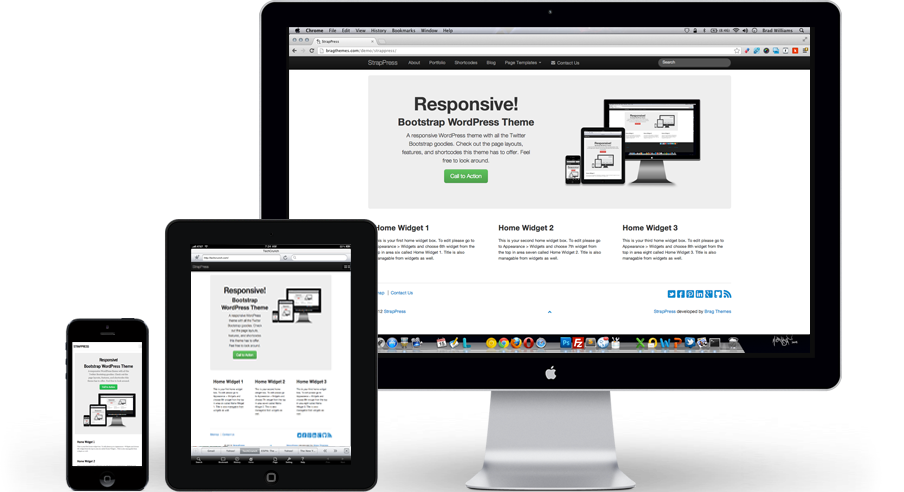 Bootstrap 3 WordPress Theme | StrapPress.com